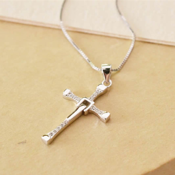Sterling Silver Pendant Necklaces - The Fast And The Furious - Men Sterling Silver Necklace