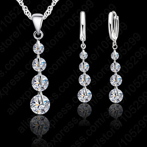 Wedding Jewelry For Bridesmaids | 925 Sterling Silver Jewelry Set  For Bridesmaids