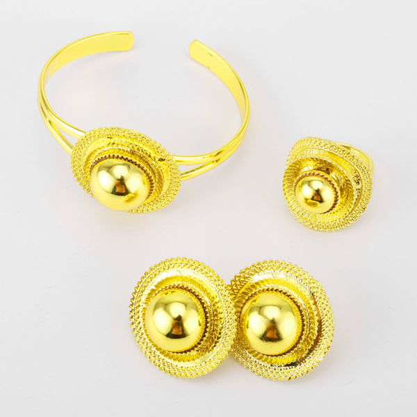 Ethiopian Jewelry Sets - Gold Color Eritrean Wedding Luxury Jewelry Africa | Sudan