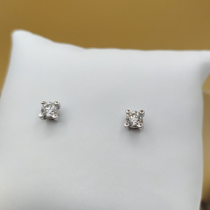 Pendientes solitario diamante talla brillante  0,74 cts