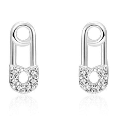 Pendientes de plata 925 mini imperdibles