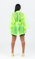 NEON GREEN SO SHEER BLAZER