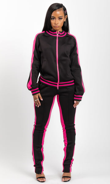 SPORTY SPLIT JOGGING SET