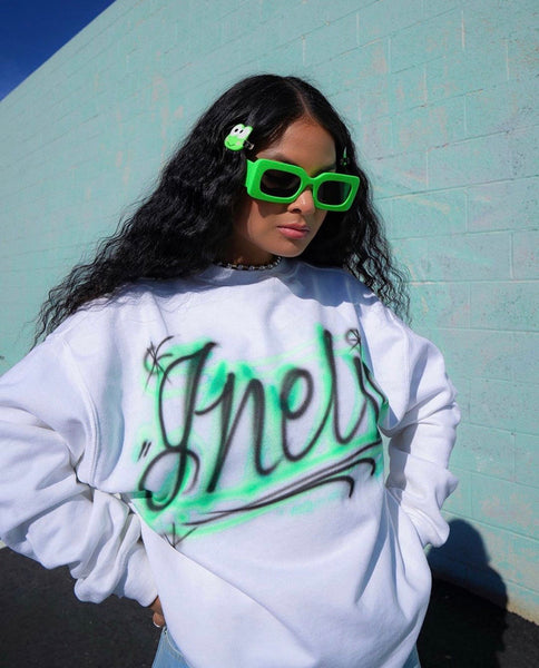 (CUSTOM)HER AIRBRUSHED SWEATSHIRT