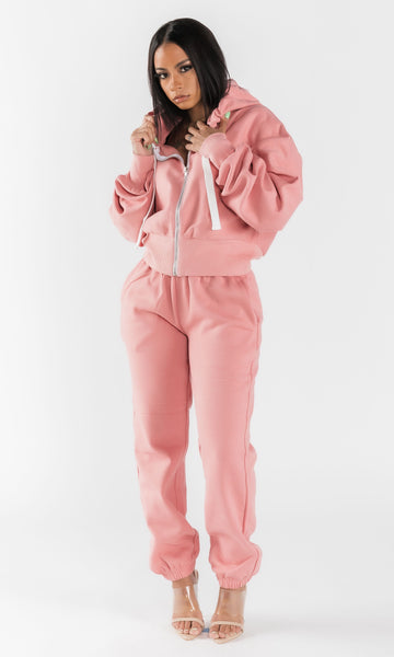 BASICALLY HER JOGGING SET (PINK)