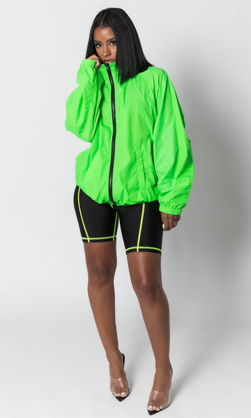 GREEN HIGHLIGHT WINDBREAKER
