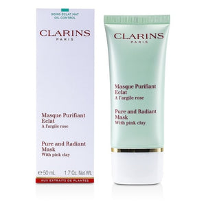 CLARINS PURE RADIANT MASK WITH PINK CLAY