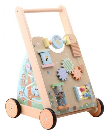 Jouéco Loopwagen the wildies family junior 45 cm hout