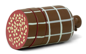 Mamamemo Salami 7 Cm Hout Rood/Bruin 3-Delig