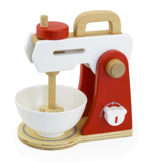 Viga Toys Mixer 20,5 cm rood/wit