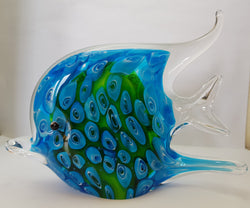 Blue Fish Glass Ornament