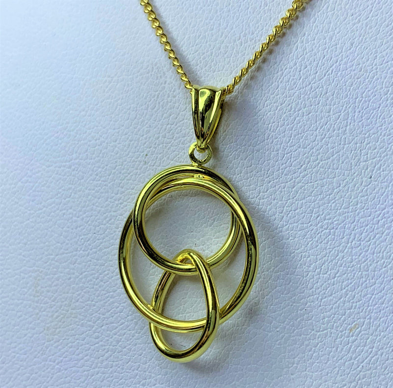 9ct Yellow Gold Silver Filled Multi Circle Pendant