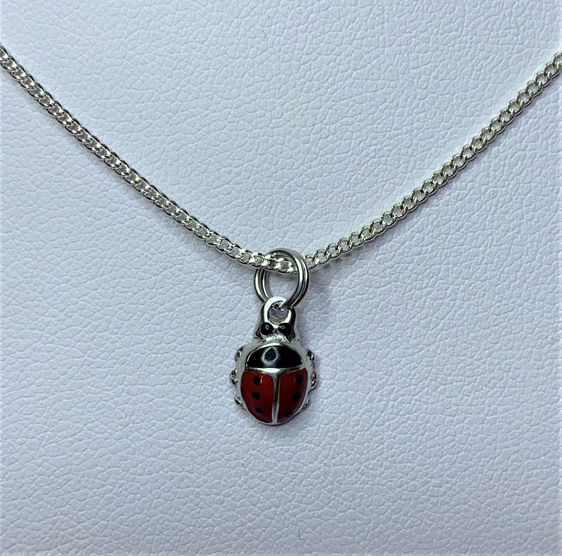 Lady Beetle Sterling Silver Pendant