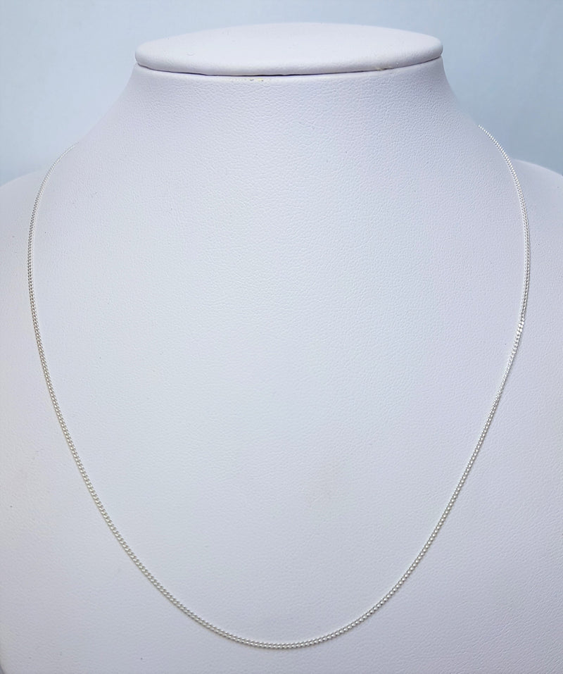 45cm Curb (50) Sterling Silver Chain