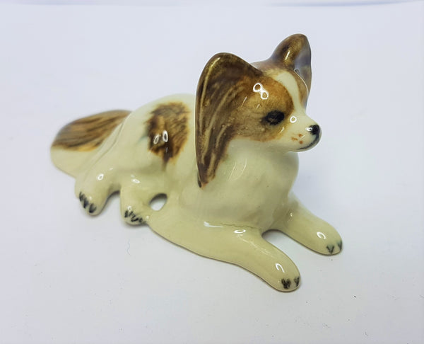 Cutest Papillon Dog Ceramic Figurine