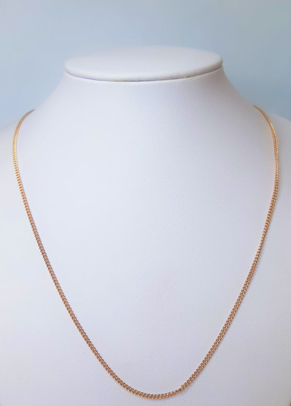 9ct Rose Gold Curb Chain 50cm