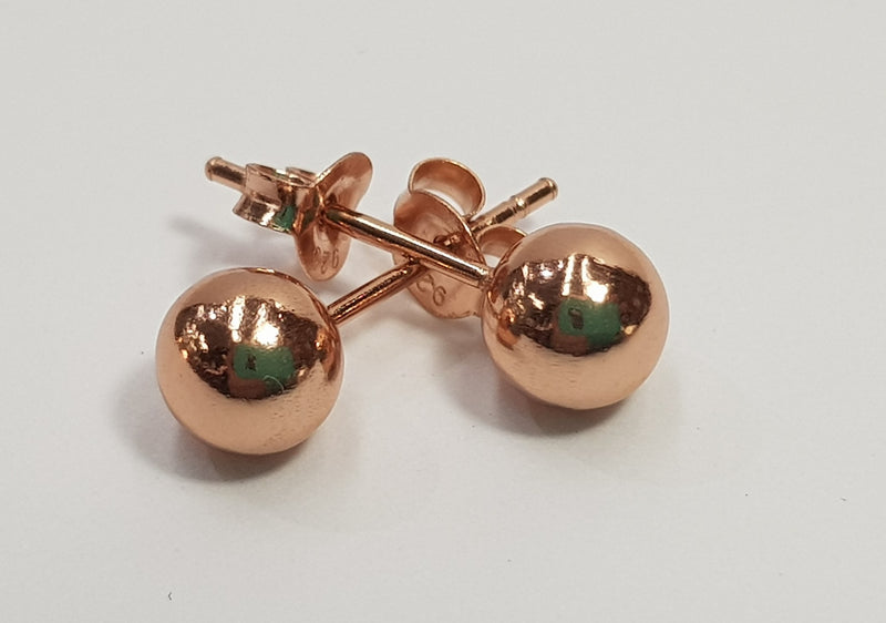 Ball Rose Gold Plate Studs