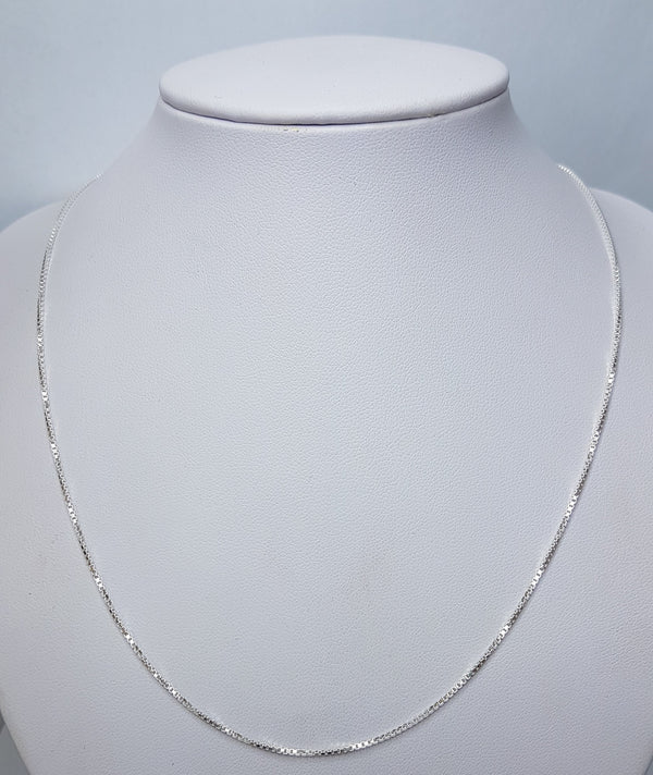 55cm Box Sterling Silver Chain