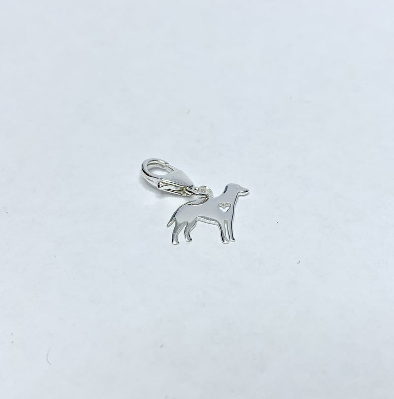 Dog Sterling Silver Charm