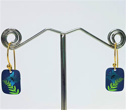 River's Edge Blue Gold Earrings