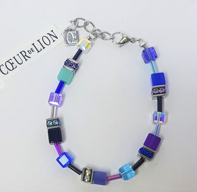 Blue/Purple Geo-Cube Bracelet