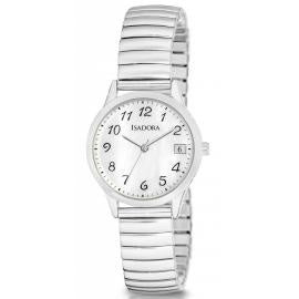 Bilboa by Isadora Mother of Pearl Dial with Silver Tone Expansion Bracelet Watch