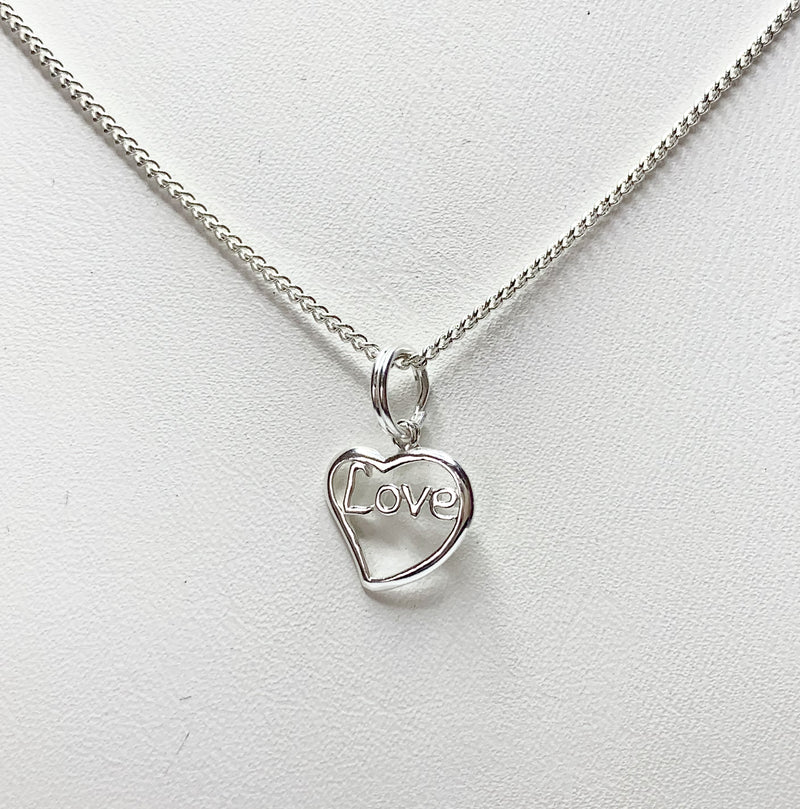 Love Sterling Silver Pendant
