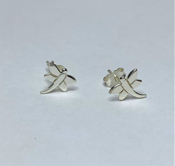Sterling Silver Dragon Fly Studs