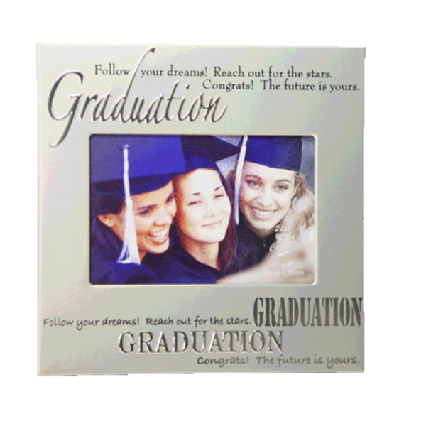 Graduation Silver Metal Photo Frame