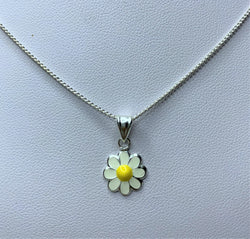White Flower Sterling Silver Pendant