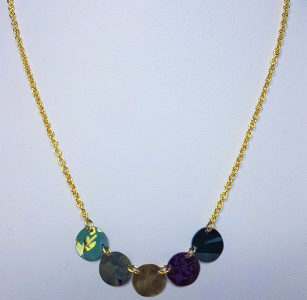 Laurel Multi Coloured Gold Necklace