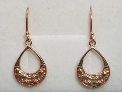 Filigree Rose Gold Plate Shepherd Hooks