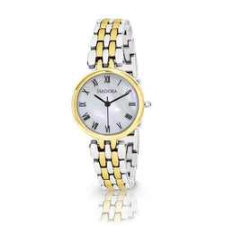 Alora by Isadora Mother of Pearl Dial with Two Tone Bracelet Watch