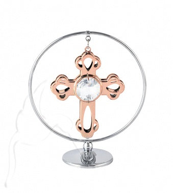 Crystal Mini Rose Gold Cross Mobile