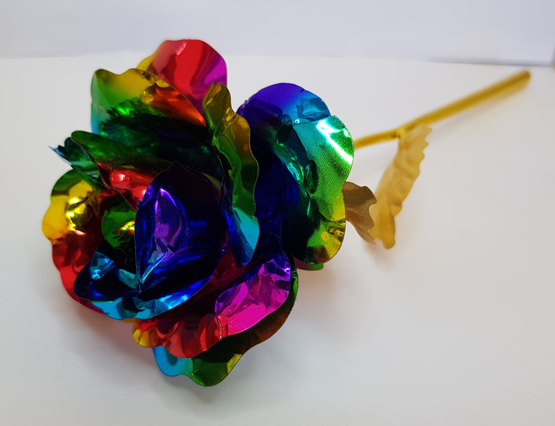 24k Gold Plated Rose - Rainbow