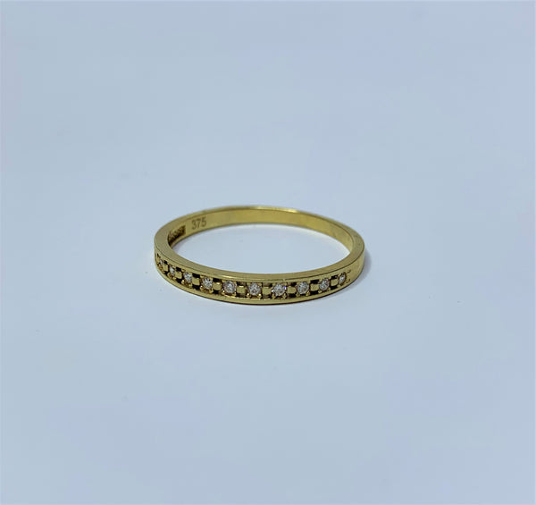 9ct Yellow Gold Cubic Zirconia Wedding Ring