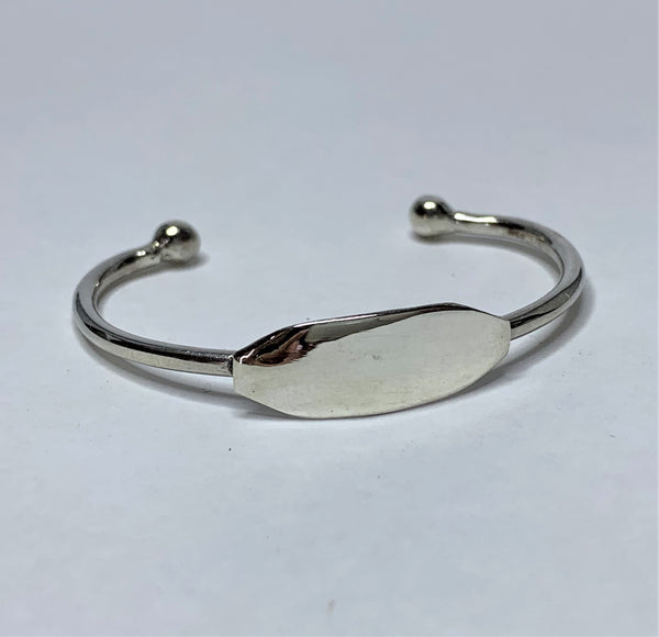 Engravable Baby Bangle Sterling Silver