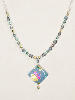 Artist's Garden Light Blue Beaded Necklace