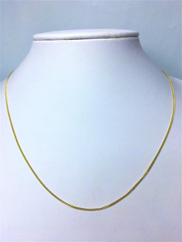 18ct Yellow Gold 45cm Chain