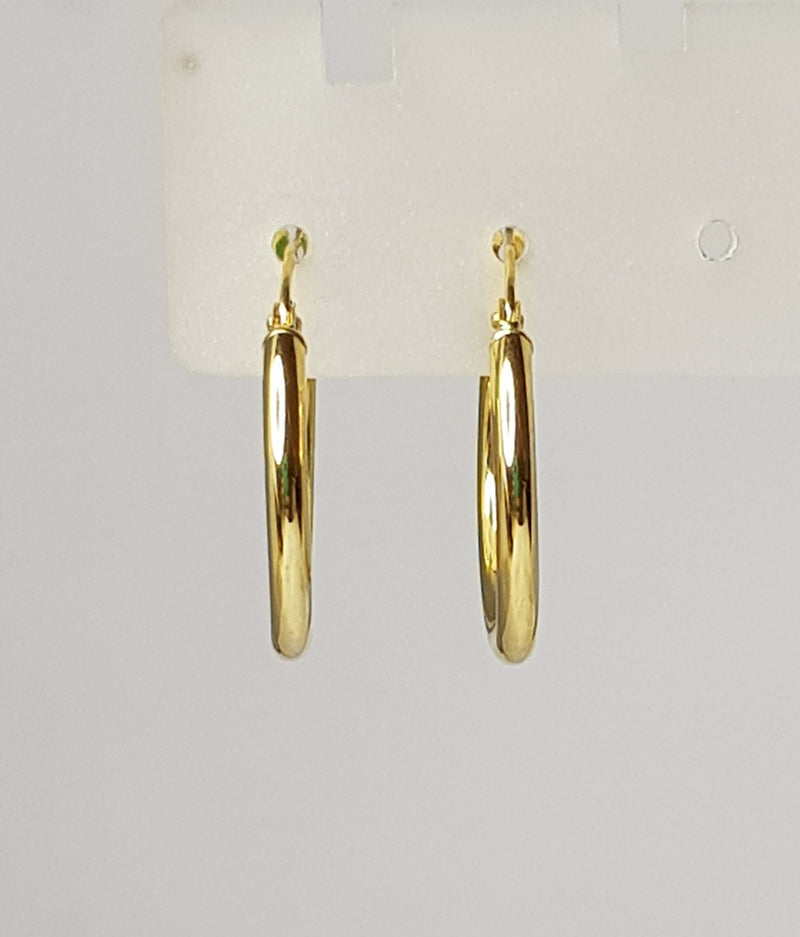 9ct Yellow Gold Plain Hoops