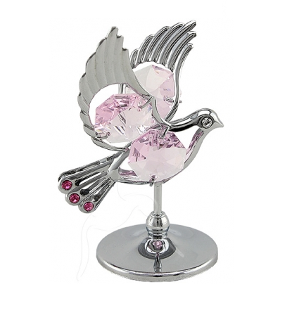 Pink Crystal Silver Crystocraft Dove