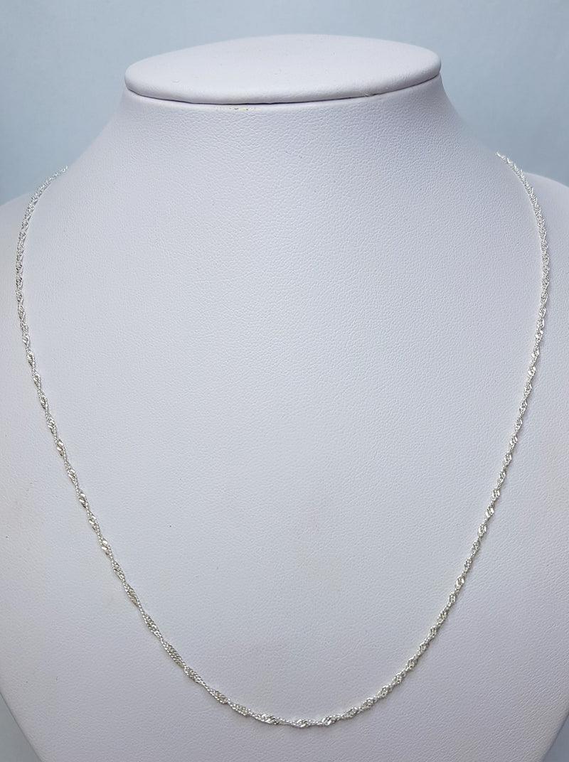 50cm Singapore (25) Sterling Silver Chain