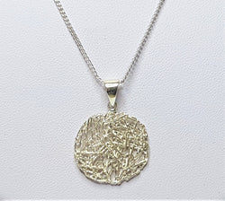 Sterling Silver Round Mesh Pendant