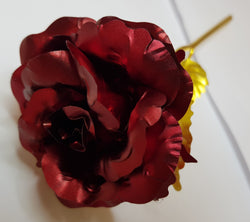24K Gold Plated Rose - Red