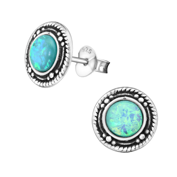 Mint Opal (Cr) Sterling Silver Studs