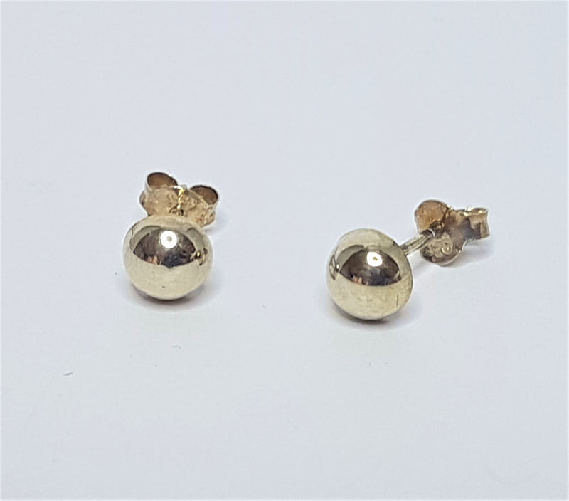 6mm Dome Sterling Silver Studs