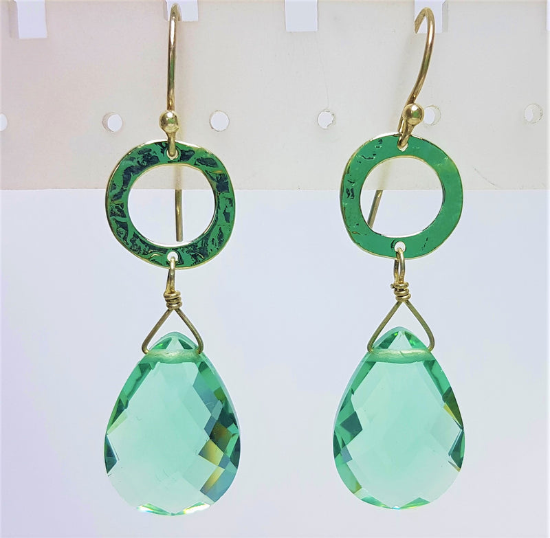 Lucinda Seafoam Silver Earrings
