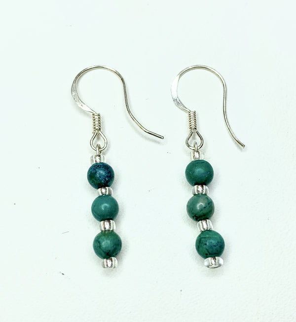 Turquoise Sterling Silver Hooks