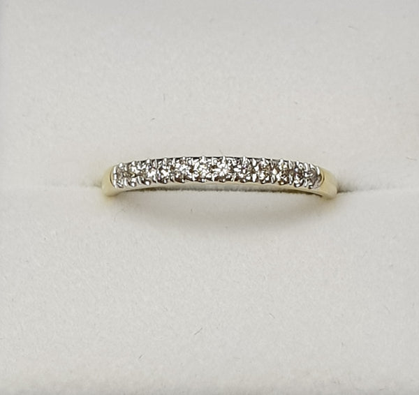 10ct Yellow Gold 12 x  Diamond Set Wedder