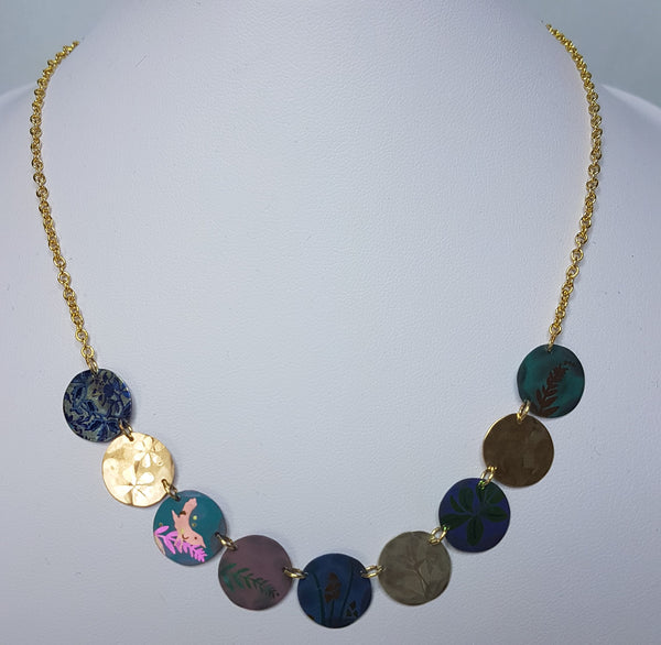 Alchemy Multi Coloured Gold Necklace